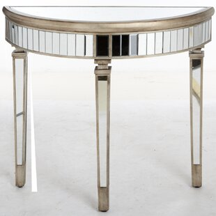 Conley Half Moon Mirrored Console Table