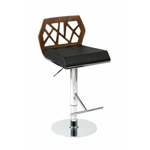Malvern Adjustable Height Swivel Bar Stool by Brayden Studio