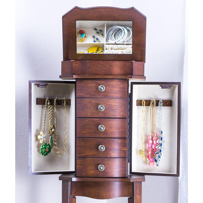 Meg Jewelry Armoire With Mirror