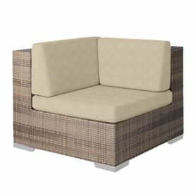 Arzo Corner Sectional Piece Patio Chair with Cushions