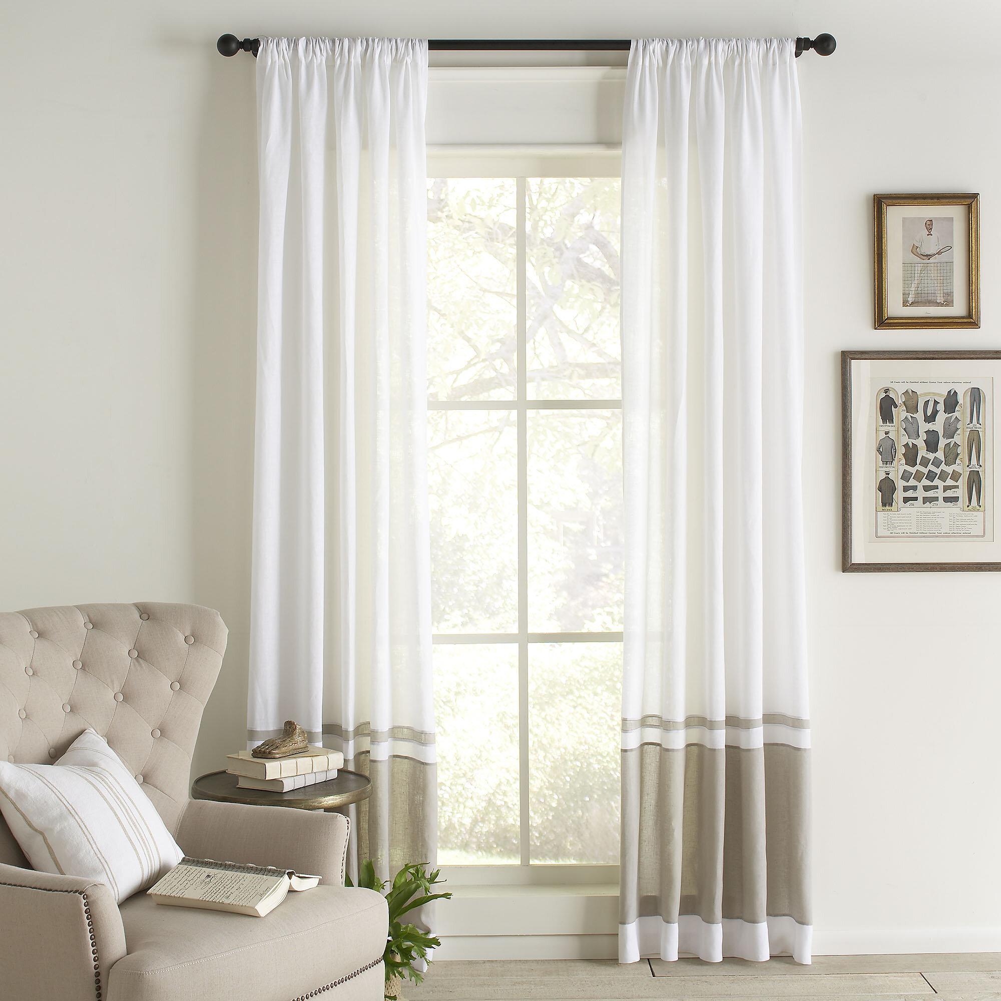 Birch Lane™ Wren Linen Single Curtain Panel & Reviews | Birch Lane