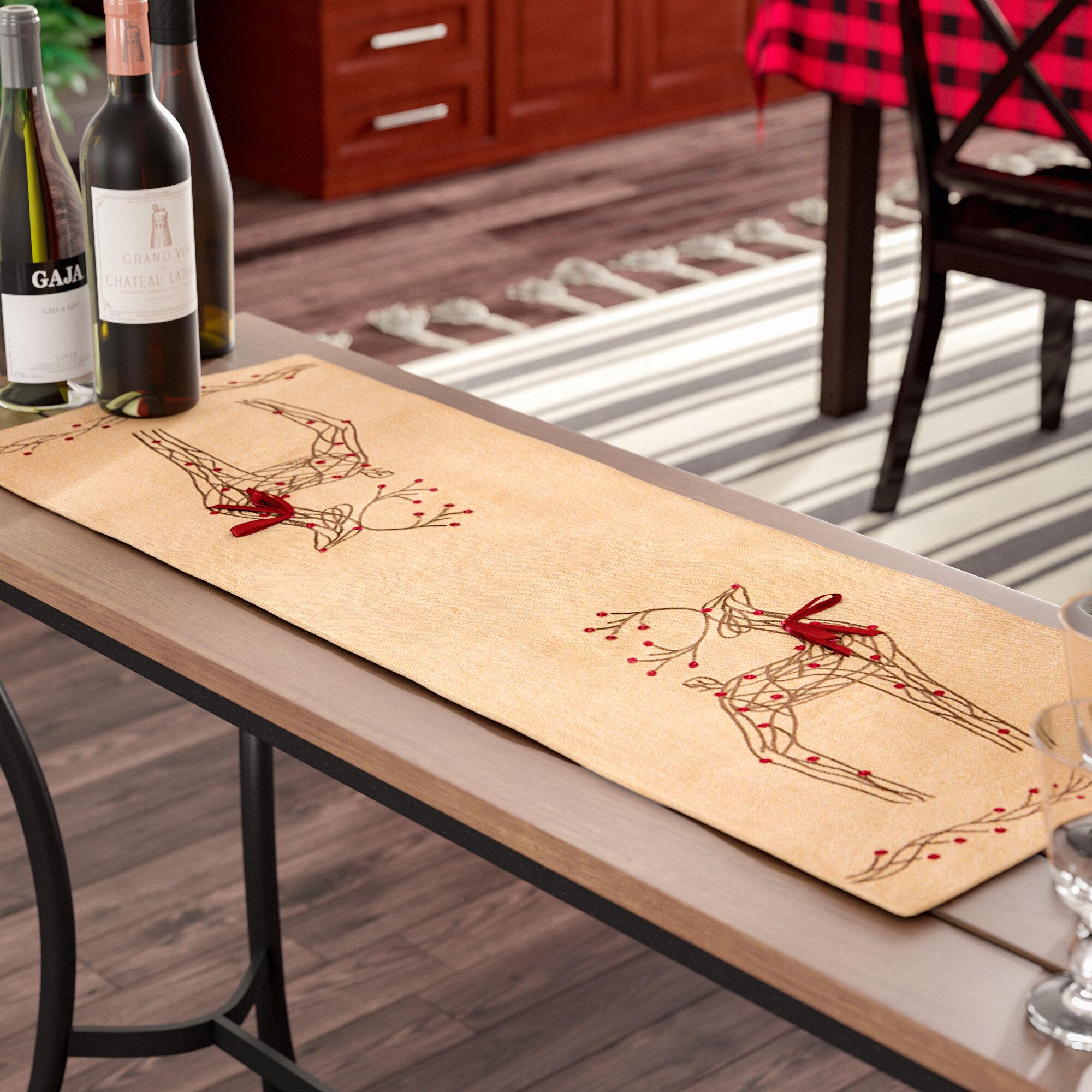 Loon Peak Uncompahgre Jute Christmas Table Runner Reviews Wayfair