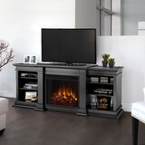 Fresno TV Stand for TVs up to 78 with Electric Fireplace Included by Real Flame