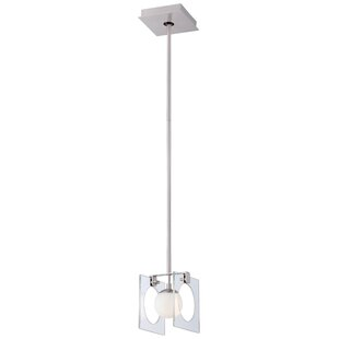 Hole-in-One 1-Light Square/Rectangle Pendant by George Kovacs by Minka