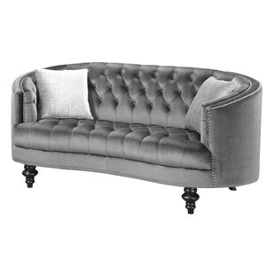 Trumann Button Tufted Loveseat by House of Hampton Spacial Price