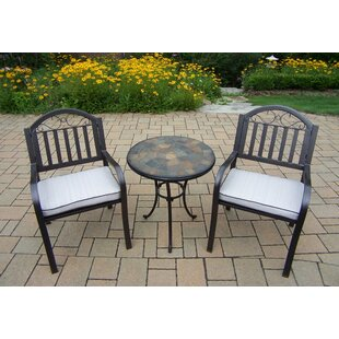 Oakland Living Stone Art Rochester 3 Piece Bistro Set with Cushions