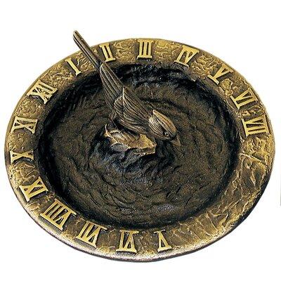 Richins Bird Bath Sundial Fleur De Lis Living