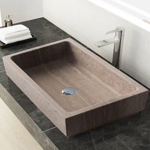 Save Maykke Lehi Stone Rectangular Vessel Bathroom Sink