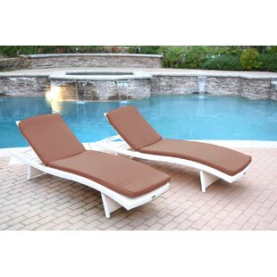 Highland Dunes Valery Chaise Lounge with Cushion Pack of 2
