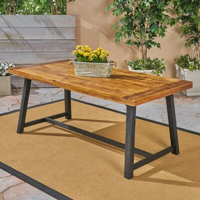 Liberatore Wooden Dining Table by Union Rustic Today Only Sale