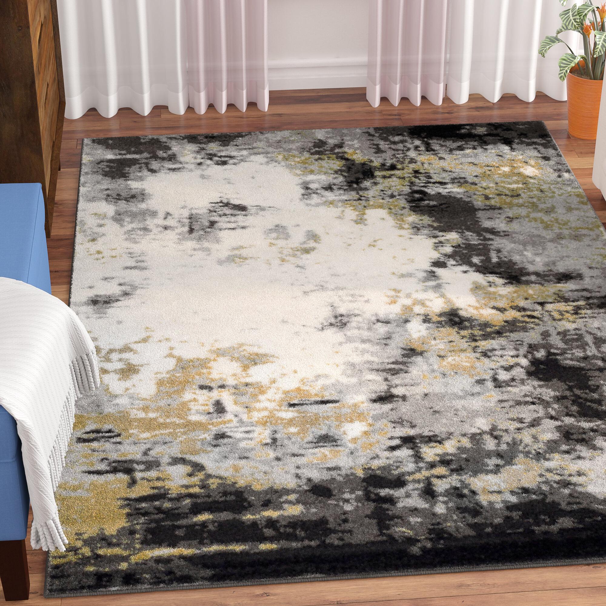Wrought Studio Shuff Charcoal Area Rug Reviews Wayfair