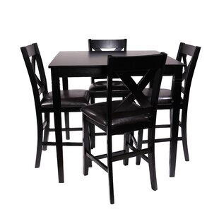 Farhat 5 Piece Counter Height Dining Set by Winston Porter