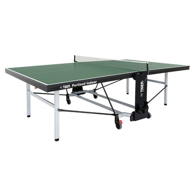 Portland Ping Pong Regulation Size Foldable Indoor Table Tennis Table (22mm Thick) TigerPingPong