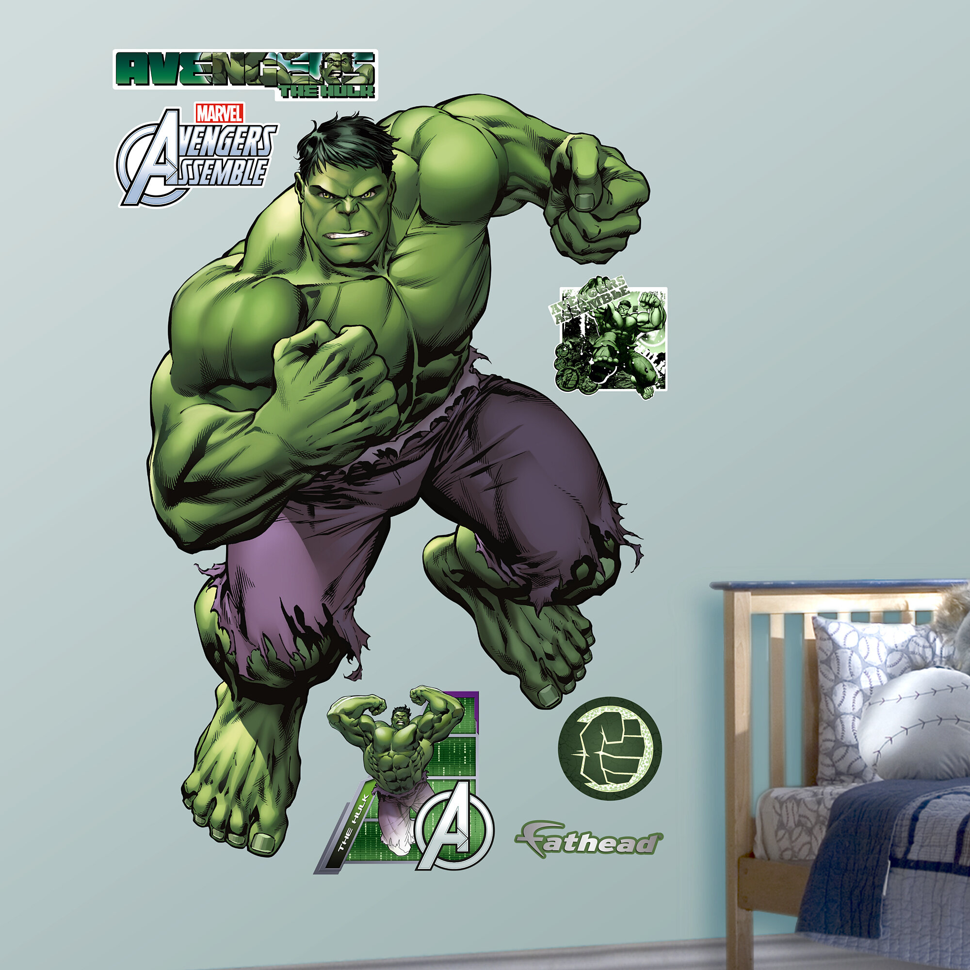 Realbig marvel avengers assemble hulk wall decal