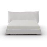 Softly Upholstered Storage Platform Bed by Calligaris