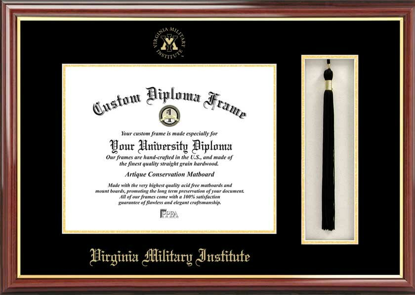 ncaa virginia military institute tassel box and diploma picture frame - Military Frames
