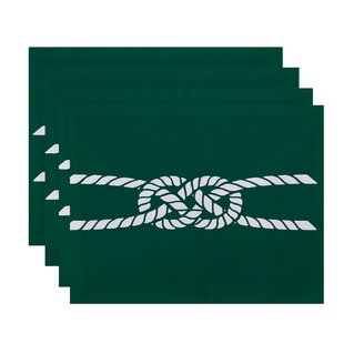 Hancock Carrick Bend Geometric 18 Placemat (Set of 4) by Breakwater Bay