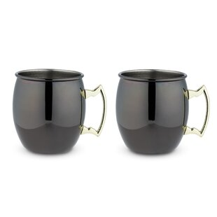 16 Oz. Stainless Steel Mug (Set of 2)