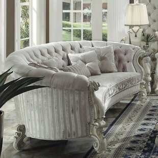 Stapler Traditional Button Tufted Sofa