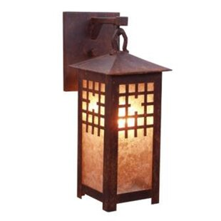 Inexpensive San Marcos 1-Light Outdoor Wall Lantern By Steel Partners