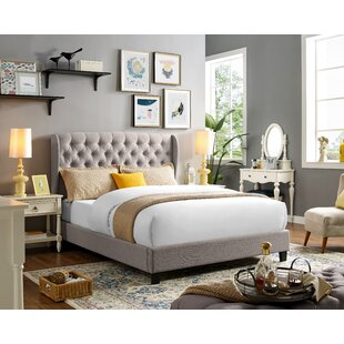 Abrahamson Queen Upholstered Platform Bed by DarHome Co