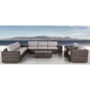 Latitude Run Nolen 12 Piece Sectional Set with Cushions