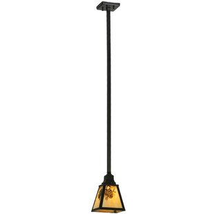 Meyda Tiffany Winter Pine 2-Light Lantern Pendant