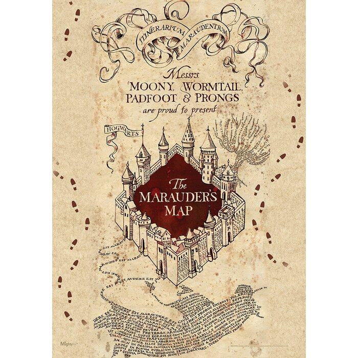 Harry Potter 'Marauders Map' Graphic Art Print on resident evil map, cancer map, rocky map, tv map, star fleet universe map, lord of the rings map, anime map, disney map, sherlock holmes map, diagon alley map, mauraders map, wizard of oz map, mario map, matrix map, marauder's map, cars map, marvel universe map, alice in wonderland map, middle-earth map, narnia map,