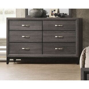 Gracie Oaks Caudillo 6 Drawer Double Dresser