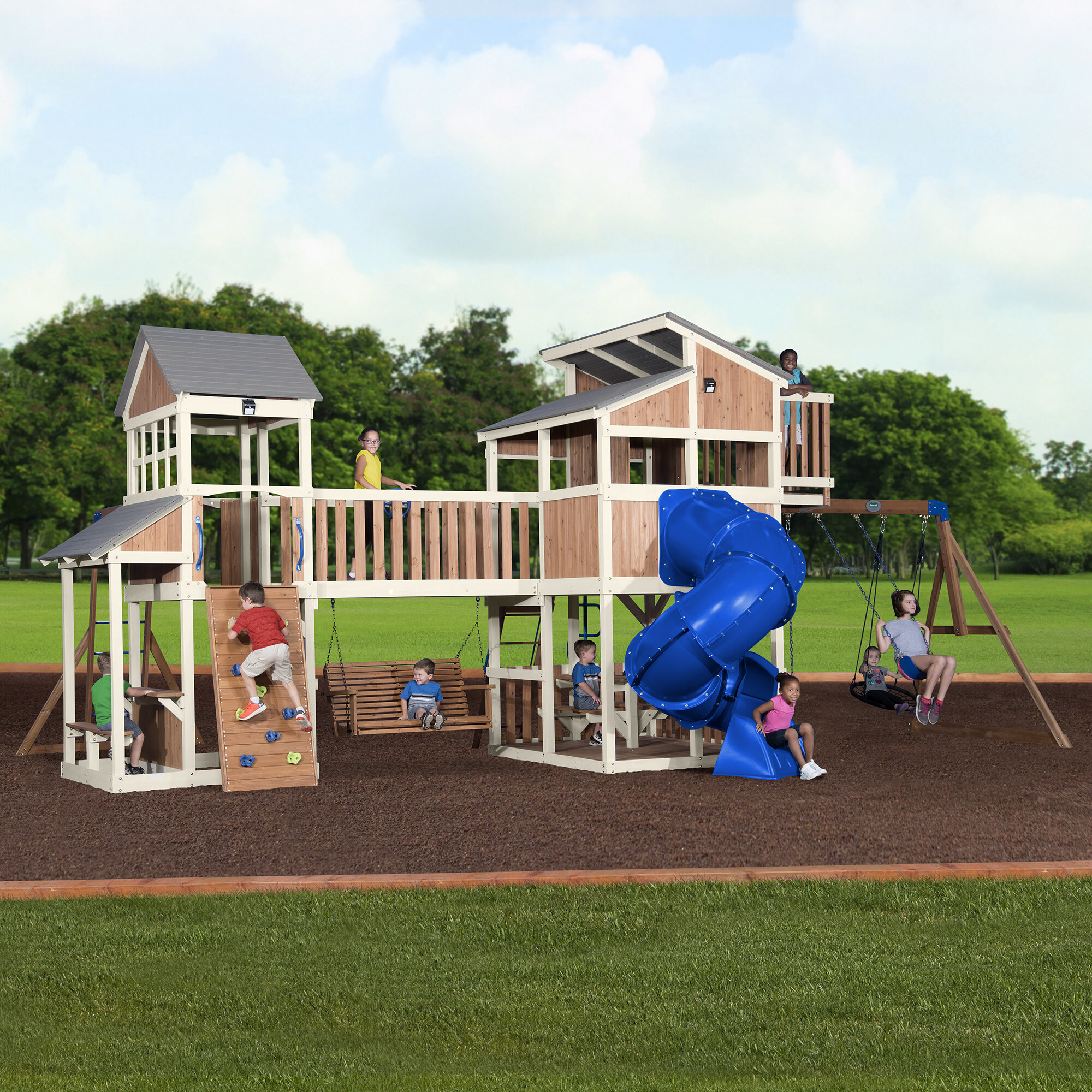 9 To 10 Year Old Swing Sets You Ll Love Wayfair Ca