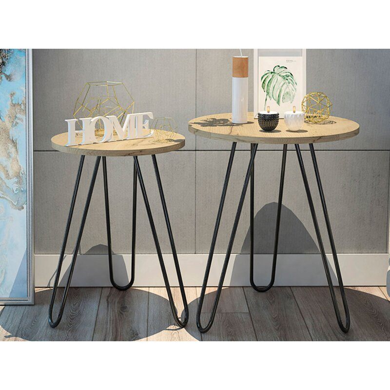 Union Rustic Ellianna 3 Leg Nesting Tables