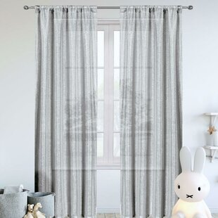 Duplantis Solid Metallic Glitter Semi-Sheer Rod Pocket Curtain Panels (Set of 2)