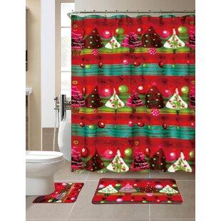 Wonderful Christmas Shower Curtains You'll Love   Wayfair DA15