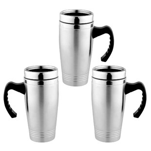 c340c0be1d9 Vanzandt 16 oz Stainless Steel Travel Mug (Set of 3)
