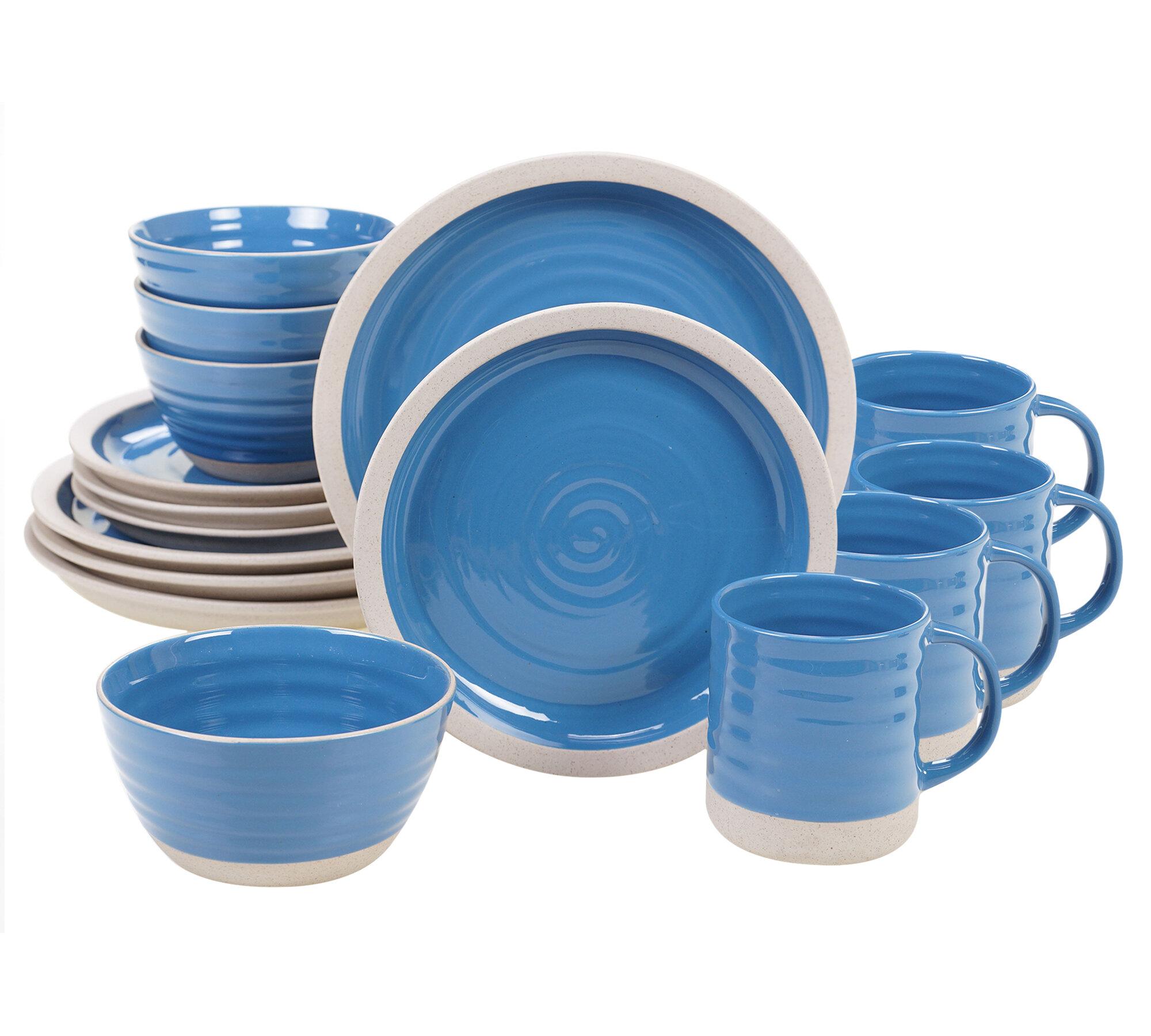 Highland Dunes Abree Artisan 16 Piece Dinnerware Set Service For