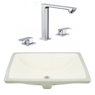 Inexpensive CSA Ceramic Rectangular Undermount Bathroom Sink with Faucet and Overflow By Royal Purple Bath Kitchen