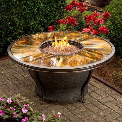 Charlton Home Valery Propane Gas Fire Pit Table