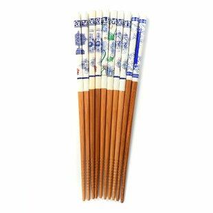 Wellsboro 10 Piece Traditional Wood Chinese Chopstick Set (Set of 2)