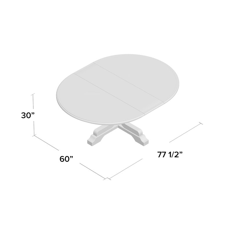 Three Posts New Canaan Round Extension Dining Table Wayfair Ca