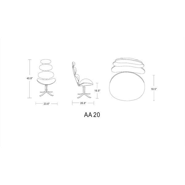 Orren Ellis Volk 23 6 W Faux Leather Swivel Lounge Chair Wayfair