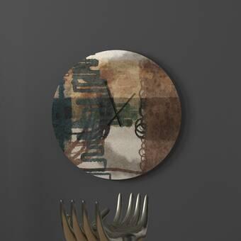 Latitude Run Showy Accountable Abstract Wall Clock Wayfair