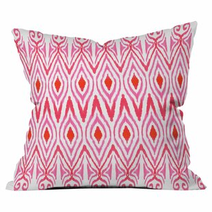 Ikat Watermelon Outdoor Throw Pillow
