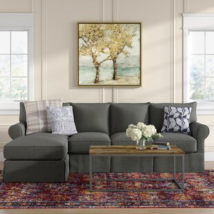 Best Choices Jameson Slipcovered Sleeper Sectional by Birch Lane™ Heritage Reviews (2019) & Buyer's Guide
