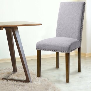 Luxurious Fabric Dining Side Chair (Set of 2) by Merax