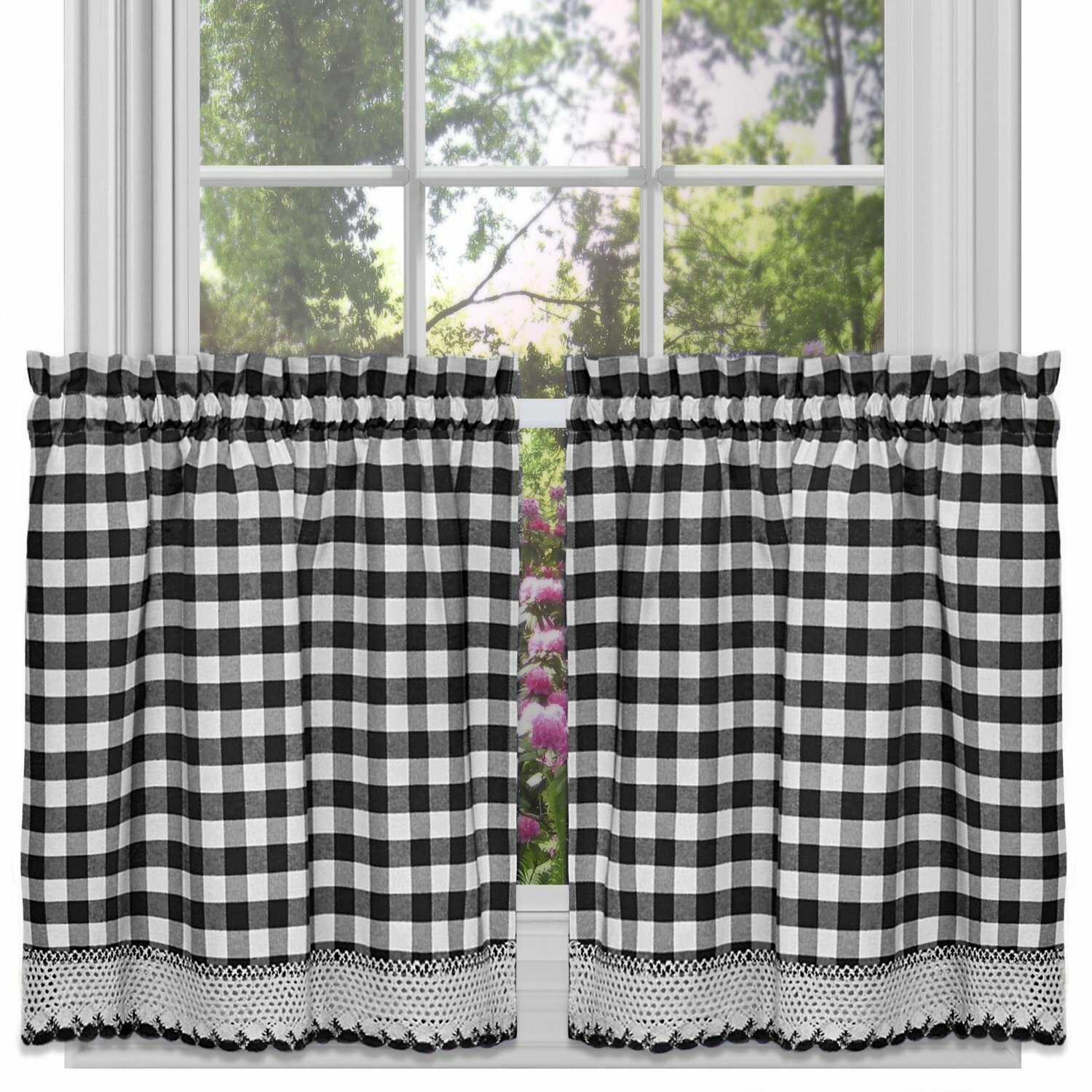 August Grove Jarrett Farmhouse Kitchen Curtains Reviews Wayfair