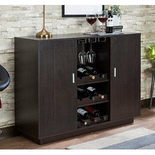 Ebern Designs Funkhouser Wooden Bar with Wine Storage