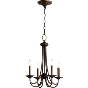 Three Posts Hewlett 4-Light Candle Style Chandelier