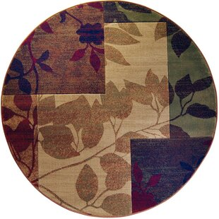 Albion Beige/Brown Leaves Area Rug by Winston Porter