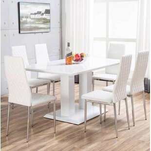 Beautiful Ransbergl High Gloss Dining Set With 6 Chairs