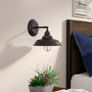 Black Alayna 1-Light Bath Sconce by Trent Austin Design